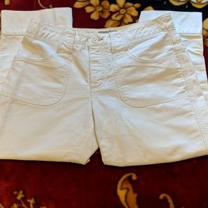AEO White Crop Button Fly Cargo Pants Size…